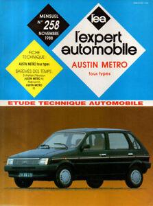 Sportif Rta Revue Technique Automobile N° 258 Austin Metro Pratique Pour Cuire