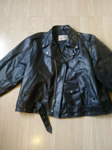 80's Vintage Excelled Motorcycle Leather Jacket. S
