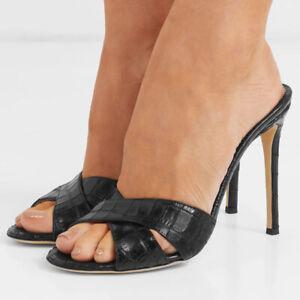 Women's Peep Toe High Heels Mules Sexy