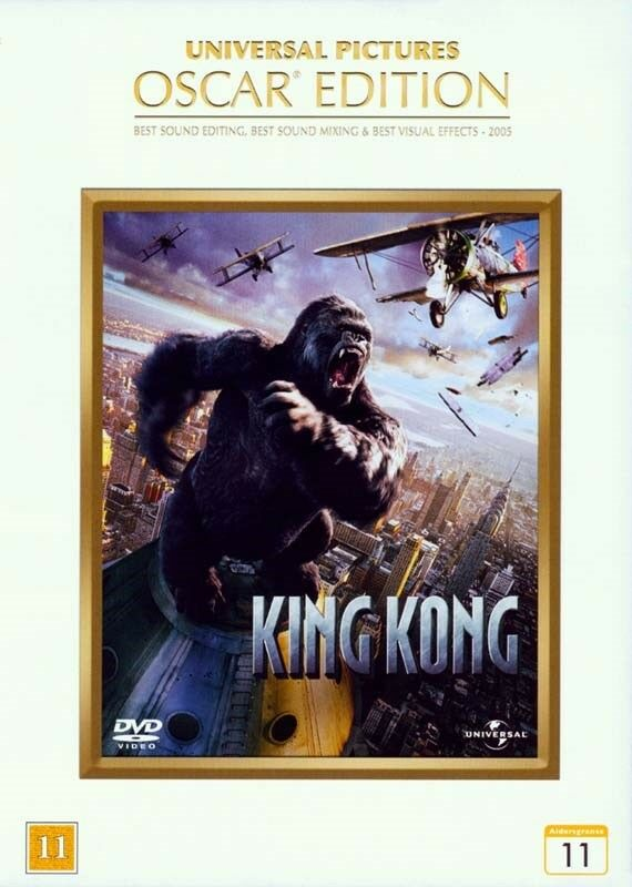 King Kong (Oscar Edition), instruktør Peter Jackson, DVD
