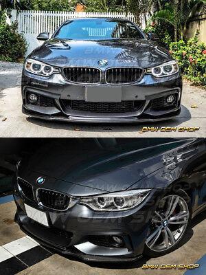 PAINTED MATTE BLACK BMW F32 F33 F36 M-TECH M-SPORT R TYPE FRONT LIP 435i 14