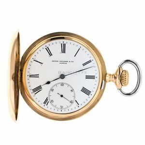 7e31a8fa50a Patek Philippe 18 Karat Rose Gold Antique Pocket Watch Hunter Case ...