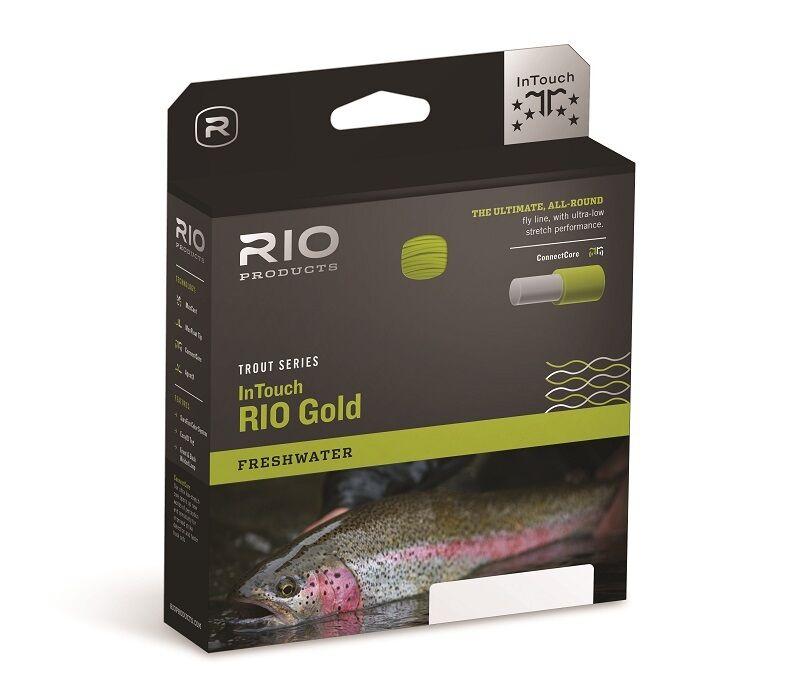 Rio Intouch oro Fly Line, Wf6f, moss gris oro...  Nuevo  estilo clásico
