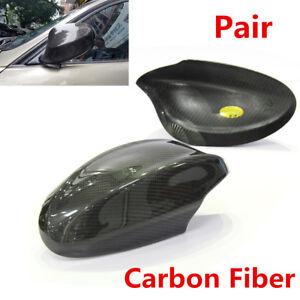 For-BMW-E90-E91-330i-335i-Pre-LCI-2005-2008-Pair-Carbon-Fiber-Side-Mirror-Caps