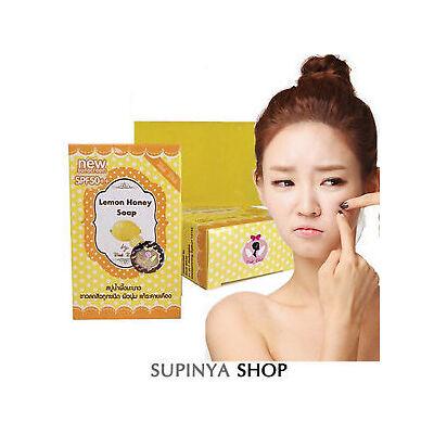 3 Pcs WINK WHITE Lemon Honey Glutathione Soap for Whitening Face Body Lightening