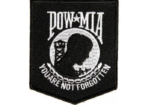 POW/MIA YOU ARE NOT FORGOTTEN BIKER  PATCH