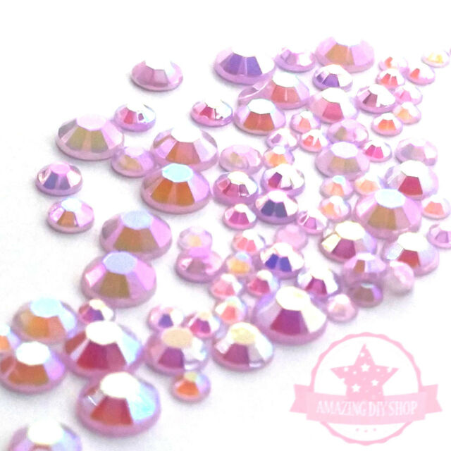 Mixed Size Jelly color Resin Rhinestone 3-6mm Fla tback Phone Decor Nail Art