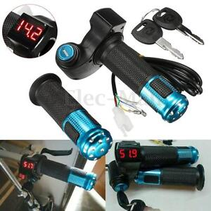 24V-36V-48V-60V-Electric-Scooter-Throttle-Grip-Handlebar-LED-Digital-Meter