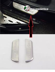 modanature MERCEDES GLC 2 battitacco soglie in acciaio satinato porte posteriori
