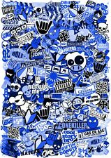 XXL 100x70cm Size JDM Style BLUE Tint Vinyl Sticker Bomb Bombing Sheet Drift Car