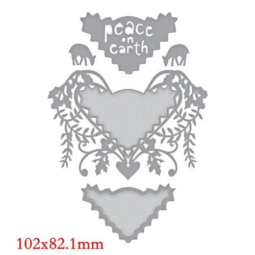 Lace Borders Frame AnimalsMetal Cutting Dies Stencils DIY Scrapbooking Embossing