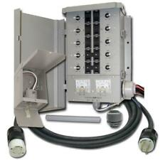 Manual Transfer Switch Kit 30 Amp 8 Space 10 Circuits G2 Control Portable Gen