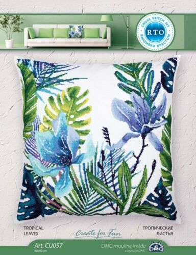 """/""""Tropical leaves/"""" Counted Cross Stitch Kit RTO CU057"""