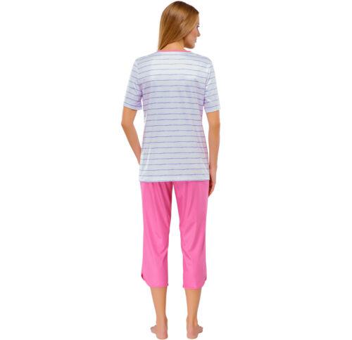 SCHIESSER Damen Pyjama 3//4 Hose Schlafanzug 100/% CO 38 40 42 44 46 48 50 M-5XL