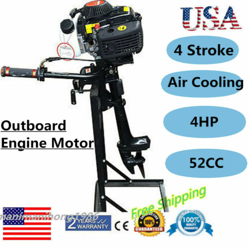52CC 4 Stroke 4HP Outboard Engine Motor CDI Fishing Boat Motor Air Cooling USA