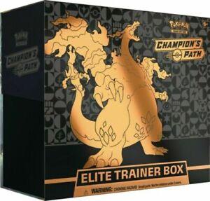 Pokemon-TCG-Champion-039-s-Path-Elite-Trainer-Box-versiegelt-10-Booster-Packs-Vorverkauf