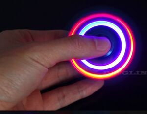 Aluminum-Metal-Hand-Spinner-Tri-Fidget-3LED-Light-EDC-Finger-Gyro-Desk-Focus-Toy