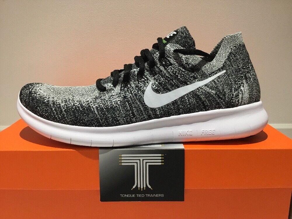 "Nike Free RN Flyknit 2017 ""Oreo""  880843 003  Size 8.5"
