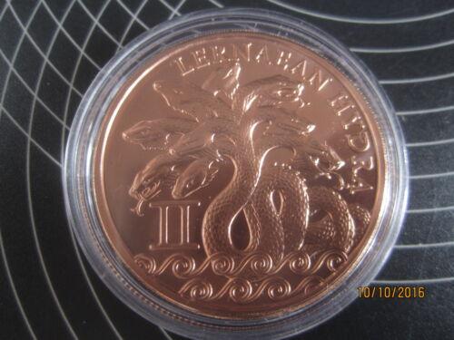 """Hercules/""""Lernaean Hydra /""""1 oz Copper Coin 2nd coin The 12 labors series"""