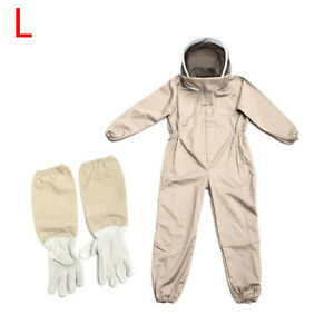 Unisex-Beekeeping-Suit-Bee-Guard-Protection-Clothing-Hooded-Gloves