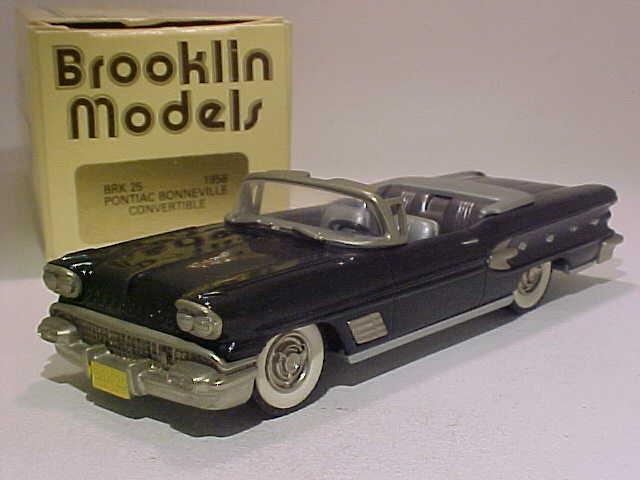 Pontiac bonneville cabriolet 1958 brooklin modelle 1   43 weißen metall - in - box