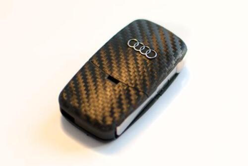 Audi A4 TT 8N 8E A4 S4 A3 S3 8L A6 4B in carbon fiber style key sticker
