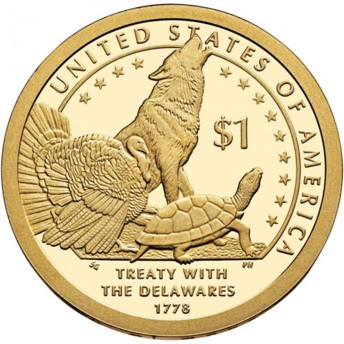 2013 P/&D Native American One Dollar Coin Sacagawea Treaty With The Delawares