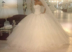 Prinzessin Weiss Tull Sicken Brautkleid Hochzeitskleid Grosse 36 38 40
