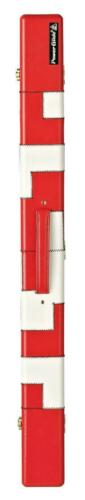 Red//White PowerGlide Snooker /& Pool Leather Effect 2 Piece Padded Cue Case