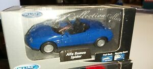 WELLY-1-36-ALFA-ROMEO-SPIDER-BLUE-NEUF-EN-BOITE