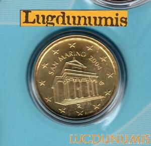 Saint Marin 2004 10 Centimes D'Euro FDC BU 70 000 exemplaires Provenant du BU RA