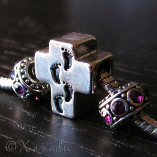 Walking The Path Of God Cross Charm And Crystal Birthstone European Style Beads
