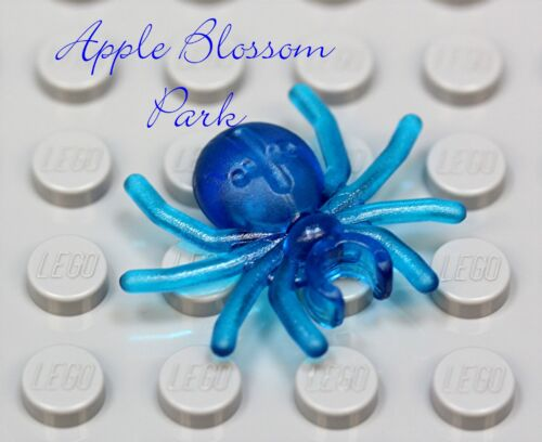 NEW Lego Minifig TRANS BLUE SPIDER Boy//Girl Minifigure Halloween Pet Animal