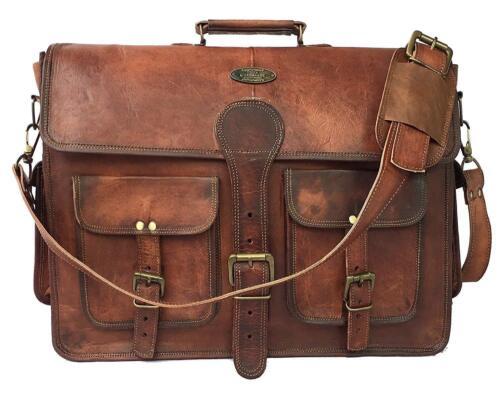 """15/"""" Large Leather MESSENGER bag for men shoulder bag mens Laptop BRIEFCASE bag"""