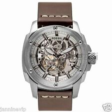 Fossil Original ME3083 Men's Modern Machine Brown Leather Watch 50mm Automatic