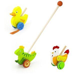 Schiebeente Ente Holz Schiebespielzeug Watscheltier Holzspielzeug