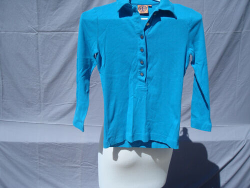 Tory Burch Turquoise Blue Cotton Long Sleeve Women