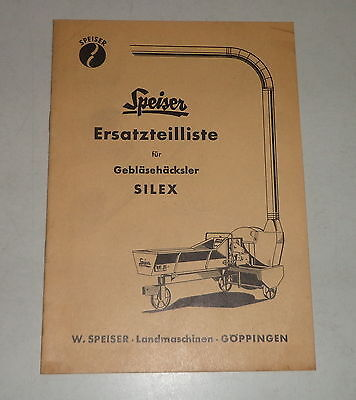 Business, Office & Industrial Agriculture/farming Bright Parts Catalog/spare Parts List Speiser Gebläsehäcksler Silex Curing Cough And Facilitating Expectoration And Relieving Hoarseness