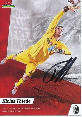 Niclas Thiede  SC Freiburg 2019 2020 Fußball Autogrammkarte signiert 100028