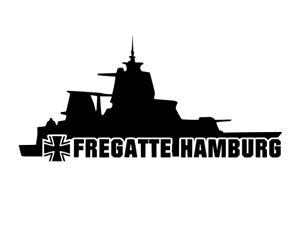 Bundeswehr Marine Fregatte Hamburg Aufkleber Autoaufkleber decal 24 #8415