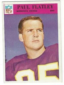 PAUL-FLATLEY-1966-Philadelphia-109-NM-MT-NFL-VINTAGE-Minnesota-Vikings