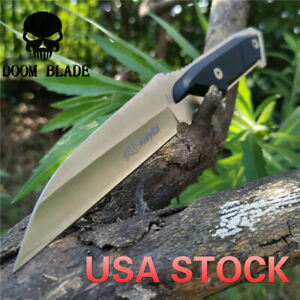9-5in-Steel-Full-Tang-Fixed-Blade-Knife-4-3-Drop-Point-Blade-G10-Handle-Survival