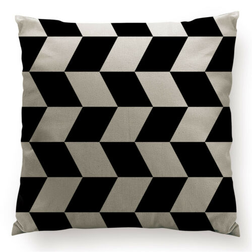 Geometrical Double-sided Cushion Cover Waist Throw Pillow Case Car Home Deco