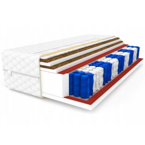 Matratze 90x200 Taschenfederkern 7 Zonen DOUBLE Kokos H3 24 cm Bett Matratzen