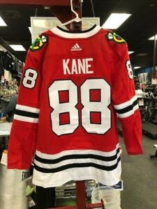online retailer fe1b3 ae7ac Details about Adidas Patrick Kane Chicago Blackhawks Red Authentic Player  Jersey #88 50 M