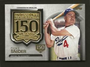 2019-Topps-Series-2-DUKE-SNIDER-150th-Anniversary-Medallion-150th-150-Dodgers