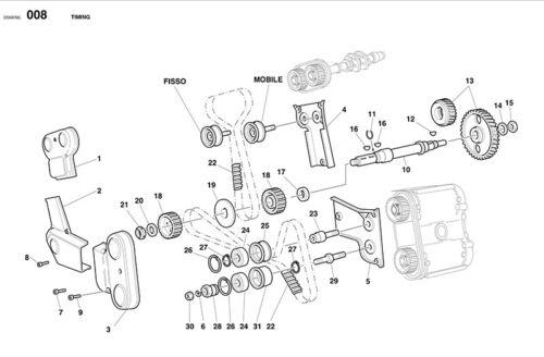 all 916 996 Fits 748 Ducati Cam Timing Belt Tensioner Bearings Set /& Lock Nuts