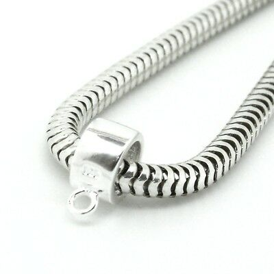 Genuine 925 Sterling Silver Charm Bracelet Hanger Bead Carrier Spacer Hole 5mm