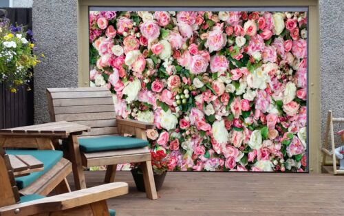 3D Peony Flower 4 Garage Door Murals Wall Print Decal Wall AJ WALLPAPER AU Lemon
