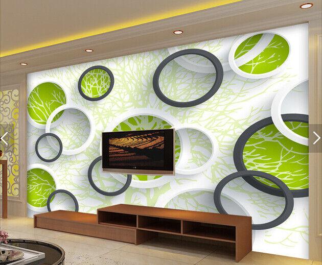 3D Kreis Baum Muster 699 Tapete Tapeten Mauer Foto Familie Tapete Wandgemälde DE